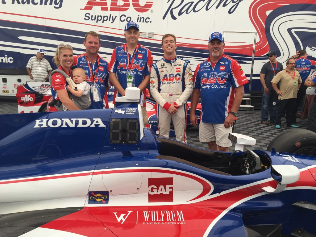 Wre Picked By Abc Supply To Ride Along On Indy Car Wolfrum Roofing Exteriors